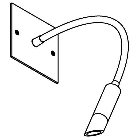 Drawing of 1900/.. - LIPSTICK by SUMUM, opbouwspot met flexibele arm - richtbaar - zonder schakelaar - zonder LED driver
