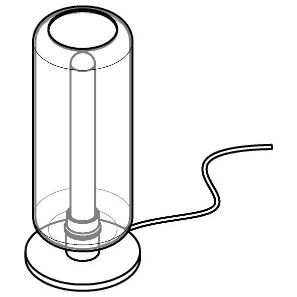 Drawing of 1558.P.E27/.. - MANON, tafellamp - vast - met snoer en stekker