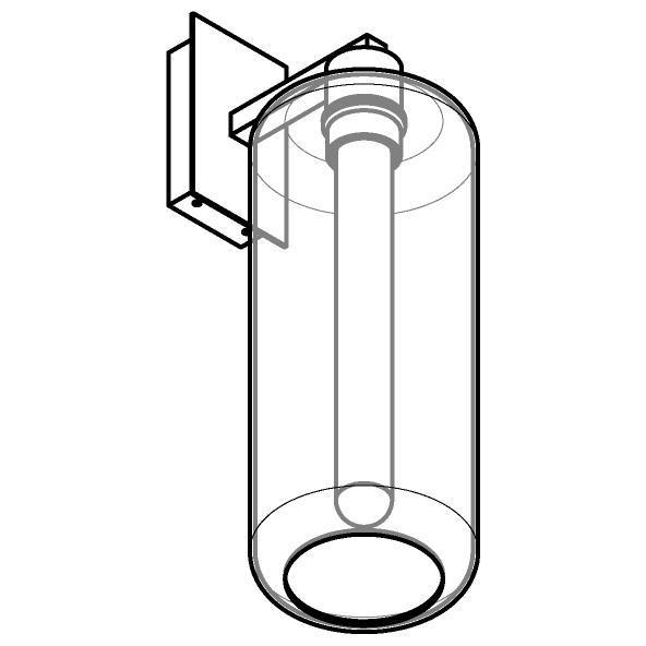 Drawing of 5146.P/.. - MANON, opbouw wandlicht - vast - met E27 fitting