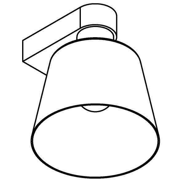 Drawing of 5533.B/.. - SHAKE METAL, opbouw wandlicht - vast - met E27 fitting
