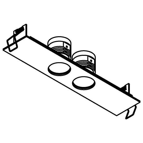 Drawing of 8376/.. - STELLA IN, inbouwspot - vierkant - vast - met ronde Zia Led - zonder LED driver