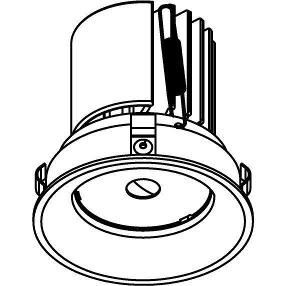 Drawing of E-CLICKBOM.DC700/.. - Ø80-82 EQUAL CLICK SYSTEM, inbouwcassette - rond - vast - zonder LED driver