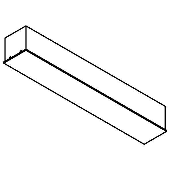 Drawing of 8312/.. - STELLA, rechthoekige basis voor opbouwspot of pendel