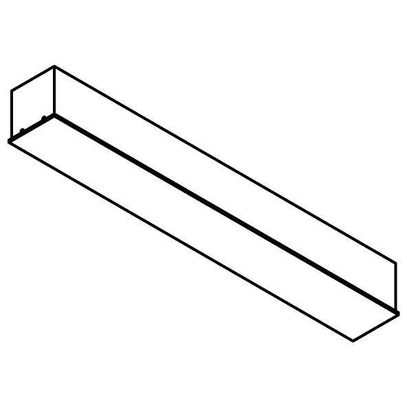 Drawing of 8313/.. - STELLA, rechthoekige basis voor opbouwspot of pendel