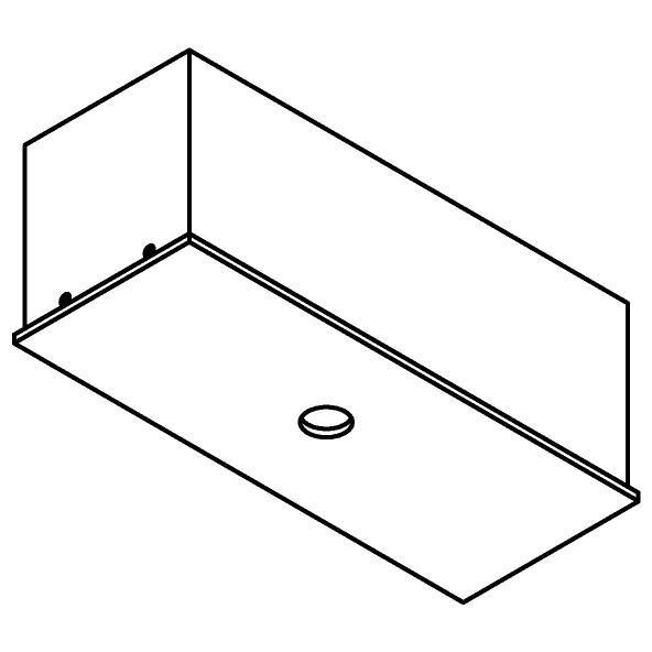 Drawing of 8314/.. - STELLA, rechthoekige basis voor opbouwspot of pendel
