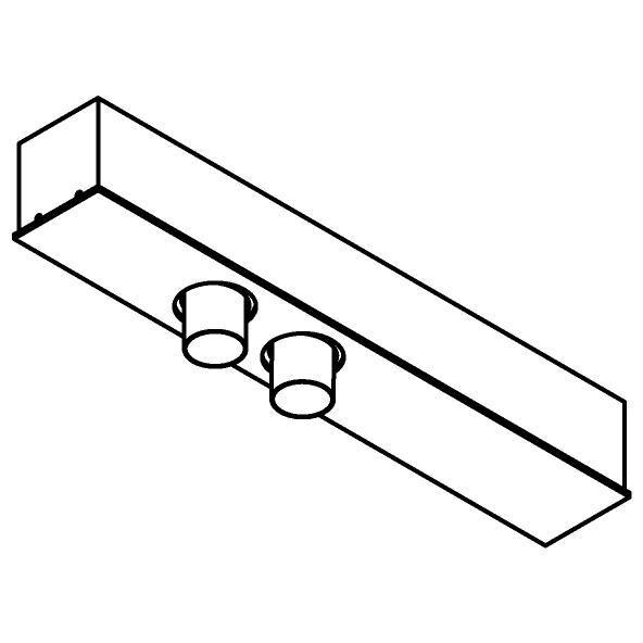 Drawing of 8347/.. - STELLA, rechthoekige basis voor opbouwspot of pendel - met LED driver