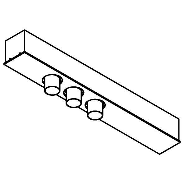 Drawing of 8348/.. - STELLA, met 3 ronde inbouwspots - met LED driver