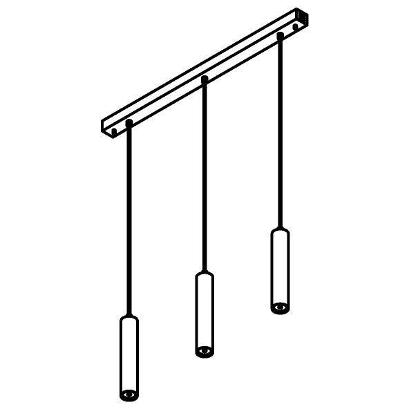 Drawing of 1907.3/.. - MERO, hanglamp - rond - met 3x Mero op basis Juba