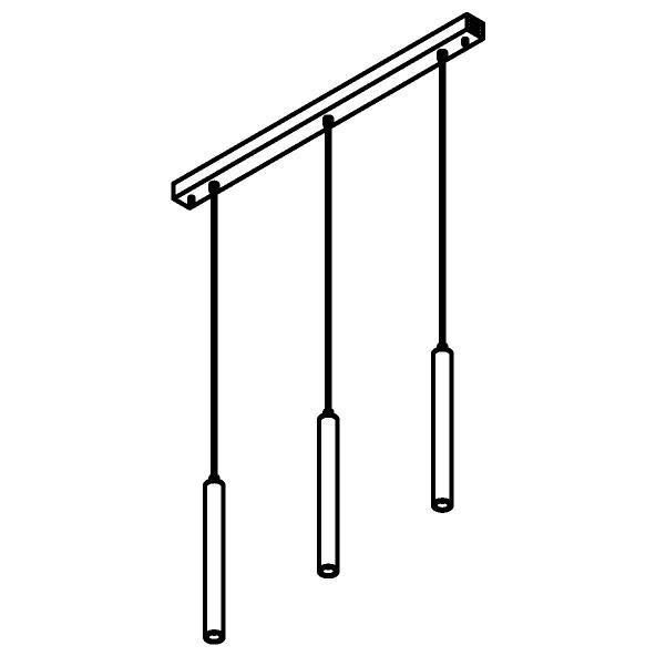 Drawing of 1922.3/.. - JACOB, hanglamp - met 3x Jacob op basis Juba - met LED driver