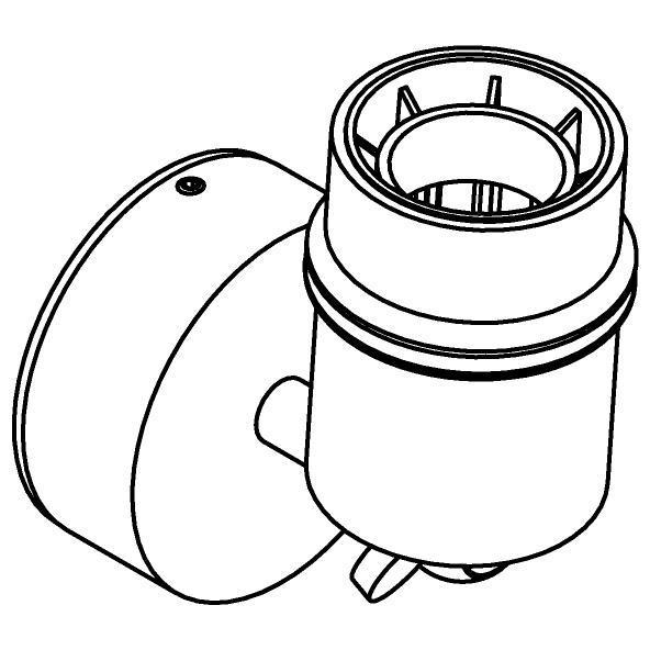 Drawing of 5037.SH/.. - MAESTRO, opbouw plafond -of wandlicht - richtbaar - voor lampenkap