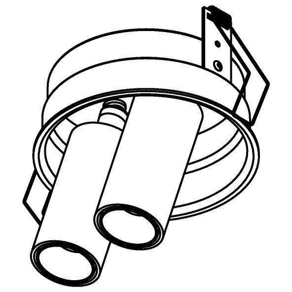 Drawing of 1593.150.S1/.. - PIVOT, inbouwspot - rond - richtbaar - zonder LED driver