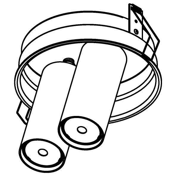 Drawing of 1594.150.S1/.. - PIVOT, inbouwspot - rond - richtbaar - zonder LED driver