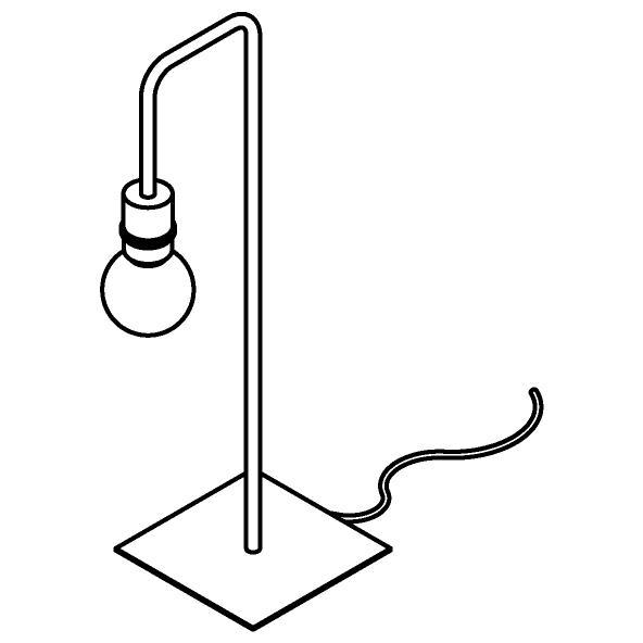 Drawing of 1566.SH/.. - CLEO, tafellamp - vast - met schakelaar + snoer