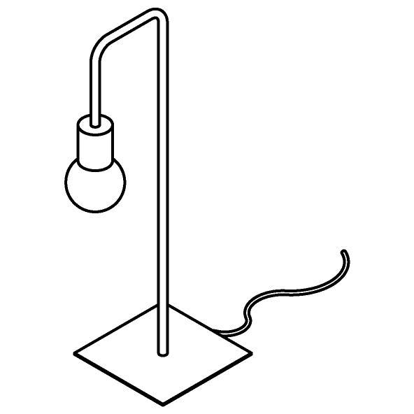 Drawing of 1566/.. - CLEO, tafellamp - vast - met schakelaar + snoer