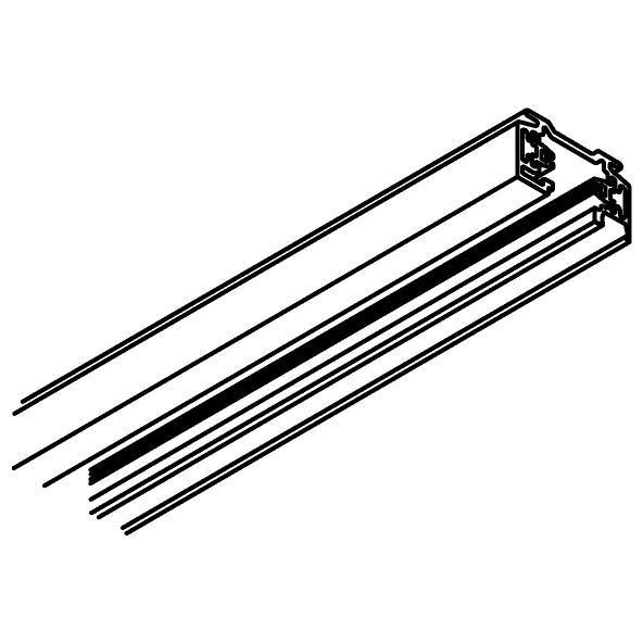 Drawing of 4802/.. - MERO 1FASE, Track 2 meter voor 1 circuit