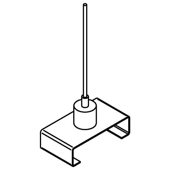 Drawing of 4805/.. - MERO 1FASE, Adapter met kabelophanging - staalkabel 1,5m