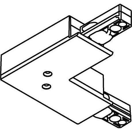 Drawing of 4815/.. - MERO 1FASE, L-connector met aansluitmogelijkheid voor voeding - aarding binnen