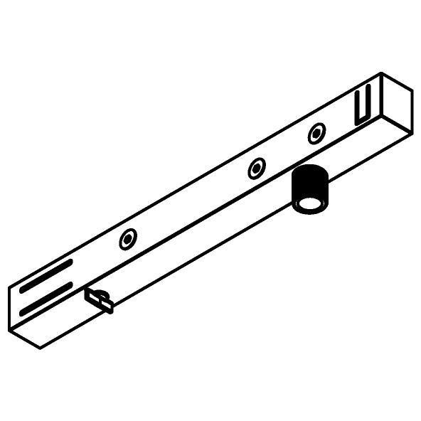 Drawing of 4820/.. - MERO 1FASE, Multi-adapter voor 1 circuit rail + montagenippel M10x1