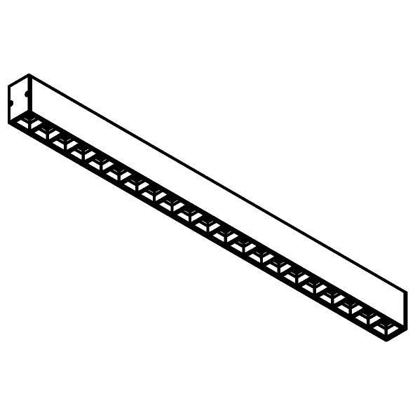 Drawing of 2915/.. - TIMES GRID 45x70, lichtsysteem - down - bevestiging rechtstreeks op plafond - met LED driver