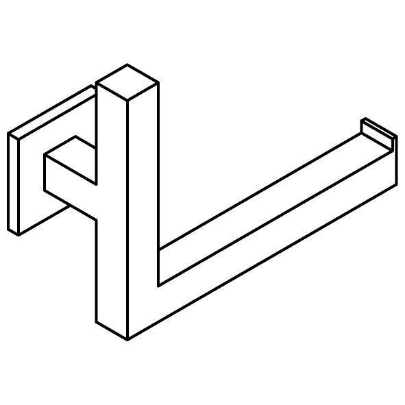 Drawing of 510.0034/.. - CASCADE, Toiletrolhouder - rechts