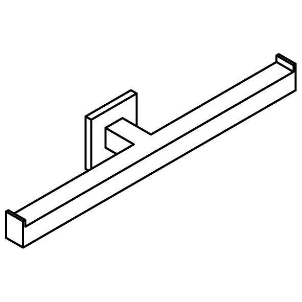 Drawing of 510.0036/.. - CASCADE, Toiletrolhouder - dubbel