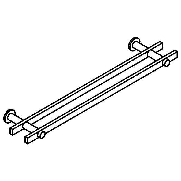 Drawing of 510.0012/.. - CASCADE, Handdoekrek - dubbel