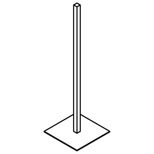 Drawing of 510.0038/.. - CASCADE, Toiletrolhouder - staand
