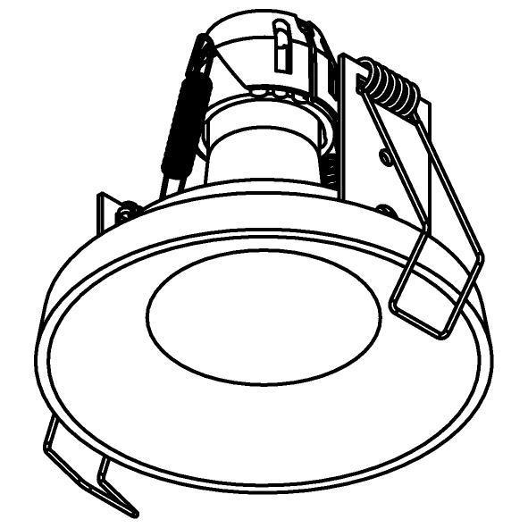 Drawing of 2941.ES50.S1/.. - ODILE, inbouwspot - rond - vast