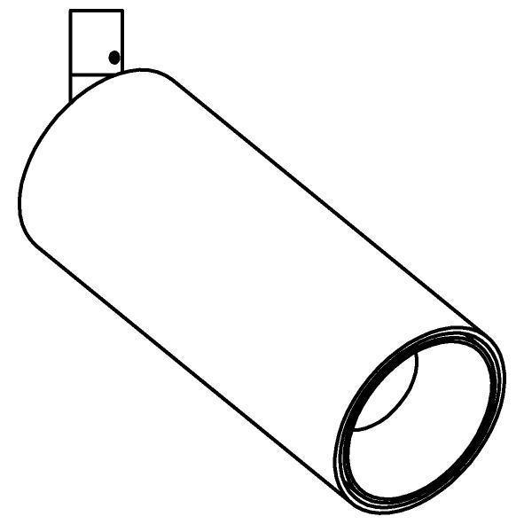 Drawing of 3800.D40/.. - JACOB LARGE, opbouwspot LED M10 - richtbaar - zonder LED driver