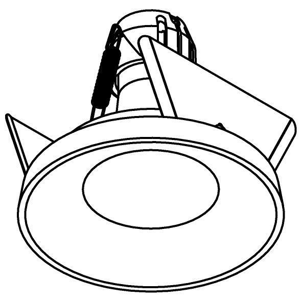 Drawing of 2941.ES50.S2/.. - ODILE, inbouwspot - rond - vast