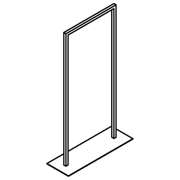 Drawing of 510.0018/.. - CASCADE, Handdoekrek - staand