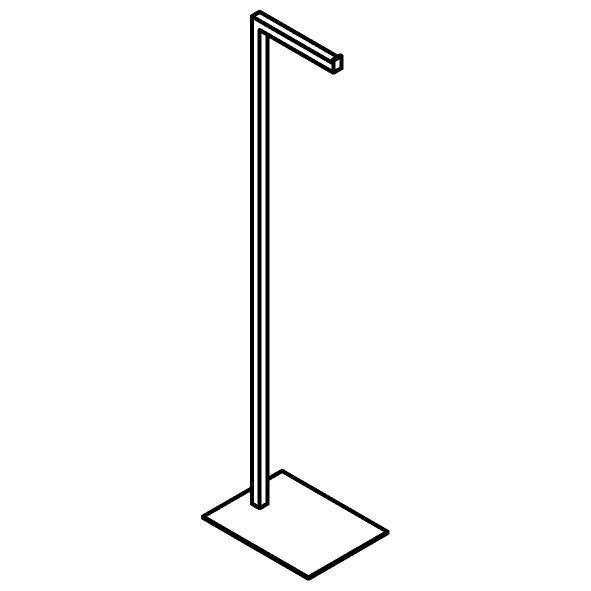Drawing of 510.0039/.. - CASCADE, Toiletrolhouder - staand