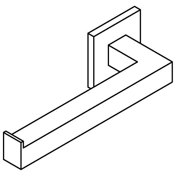 Drawing of 510.0031/.. - CASCADE, Toiletrolhouder - links