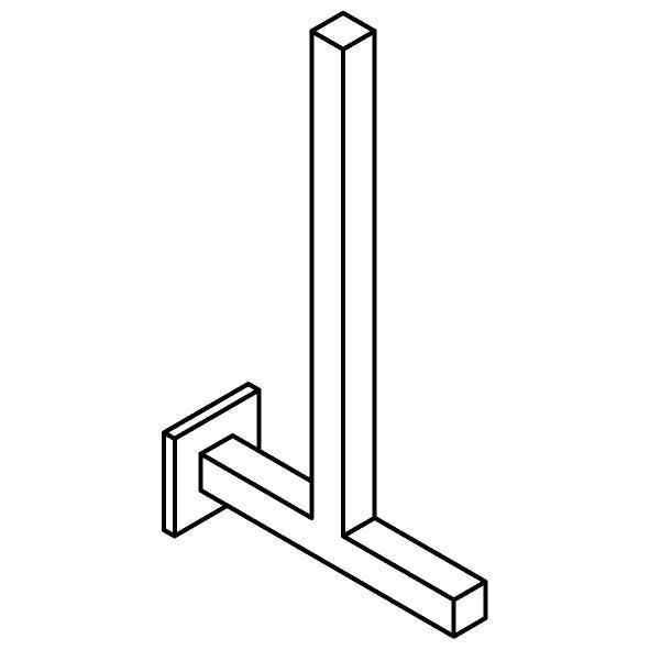 Drawing of 510.0037/.. - CASCADE, Toiletrolhouder