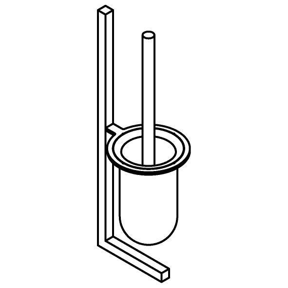 Drawing of 510.0040/.. - CASCADE, Toiletborstel - wandbevestiging