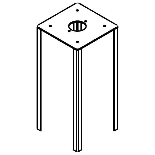 Drawing of T1597/.. - Control Box Spike, grondpin