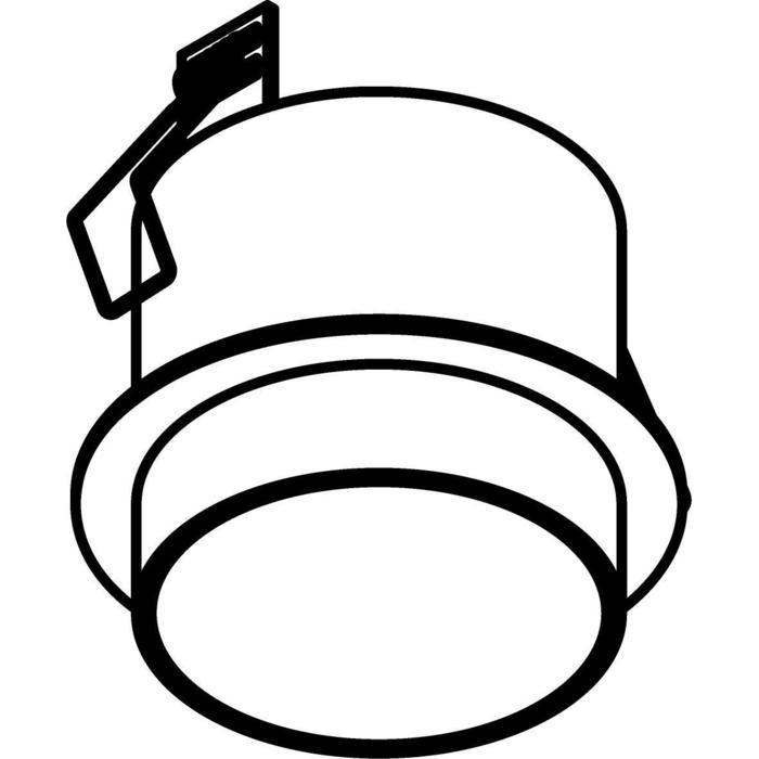 Drawing of W3165/.. - MANTA IN, half in- en opbouw plafondverlichting - rond - vast - met mat glas