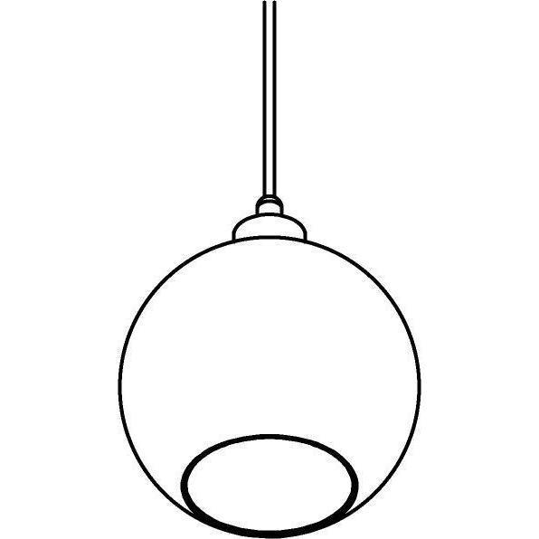 Drawing of 4968.B.E27.SH/.. - Moby Sh Bronz Coated, hanglamp - met 2m textielkabel en trekontlasting aan fitting
