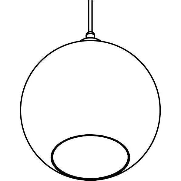 Drawing of 4969.C.E27.SH/.. - Moby Sh Bronz Coated, hanglamp - met 2m textielkabel en trekontlasting aan fitting