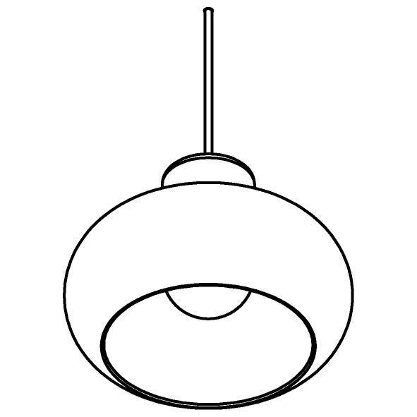 Drawing of 4038.R.E27/.. - EVITA BRONZ COATED, hanglamp - met 2m textielkabel en trekontlasting aan fitting
