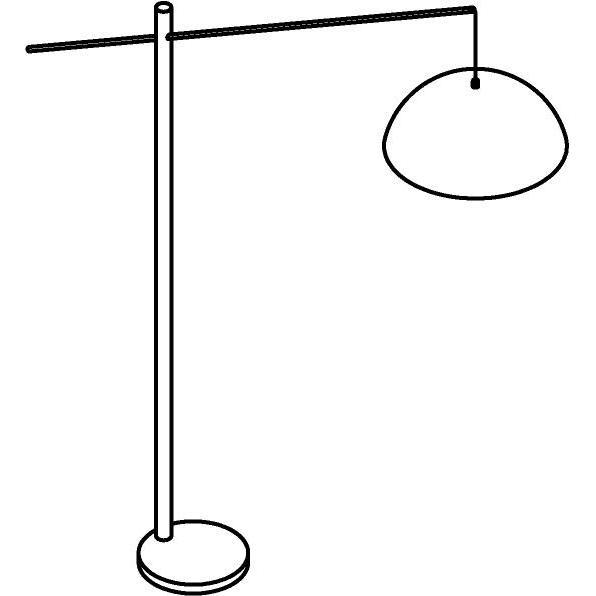 Drawing of 1598/.. - HANGOVER, staanlamp - vast - met snoer en stekker