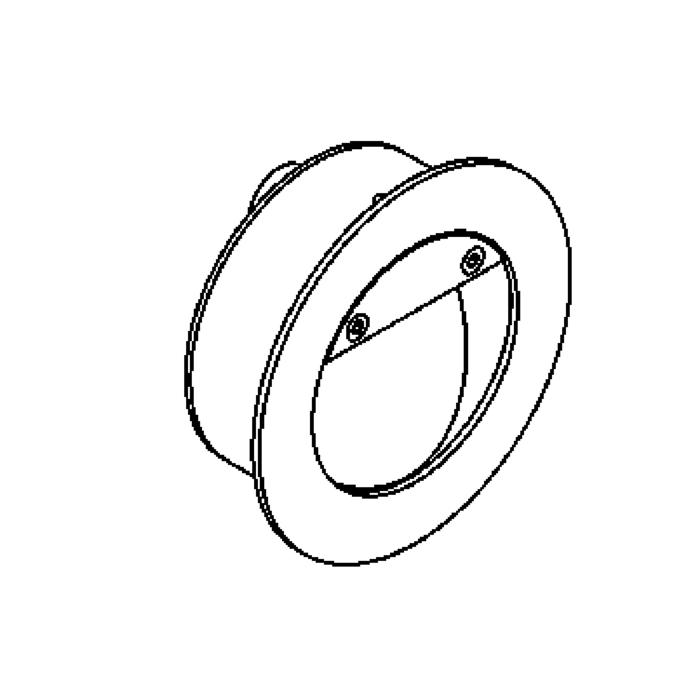 Drawing of 1240.LED/.. - SUN, inbouw wandlicht - rond - zonder LED driver