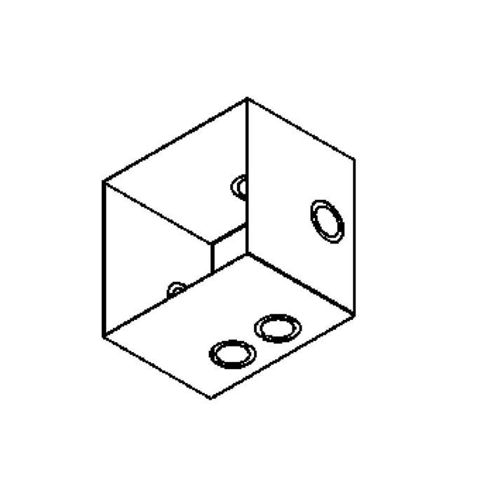 Drawing of 1245A/.. - SINGLE MOON box ZT, inbouwdoos - geen plaats voor transfo