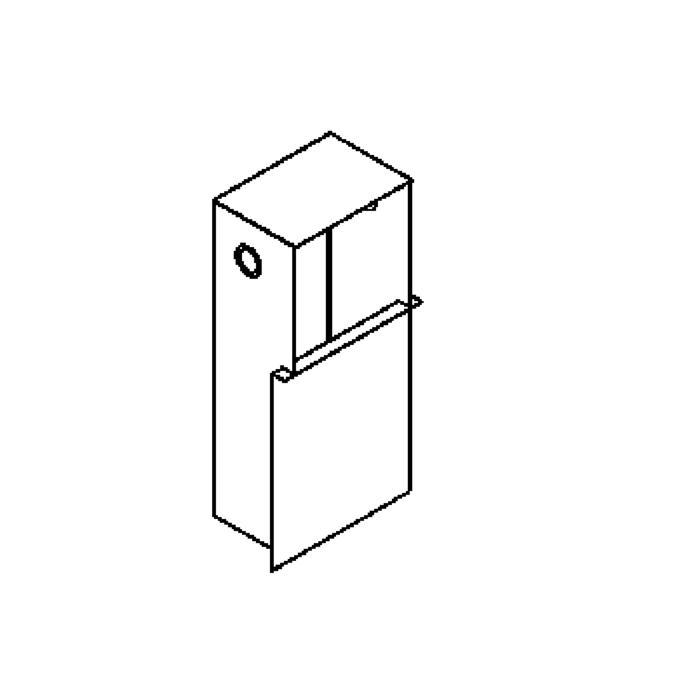 Drawing of 1245B/.. - SINGLE MOON box VT, inbouwdoos - met plaats voor transfo