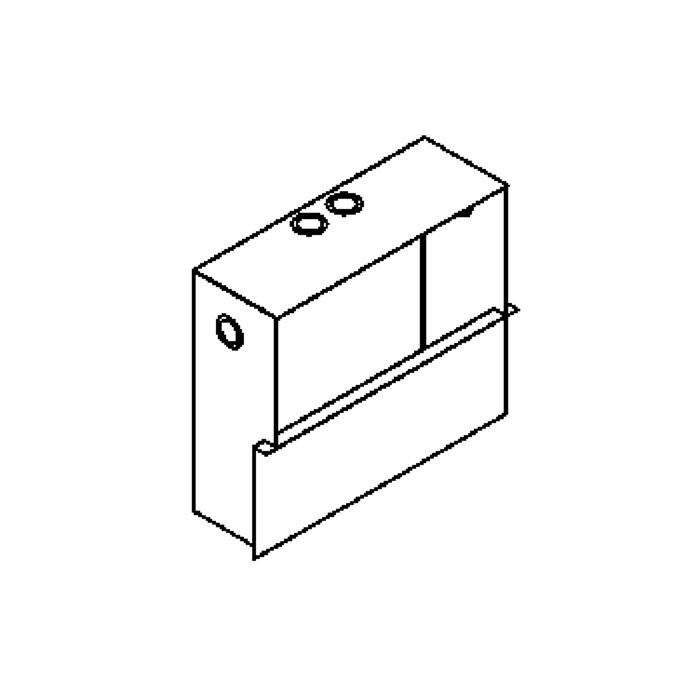 Drawing of 1247B/.. - TRIPLE MOON box VT, inbouwdoos - met plaats voor transfo