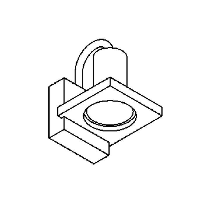Drawing of 1260/.. - HAVANA I, opbouw wandlicht - vierkant - vast - zonder transfo