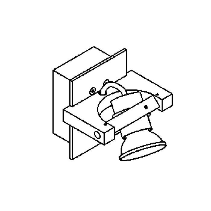 Drawing of 1269/.. - SURF, opbouw wandlicht - vierkant - richtbaar - met transfo