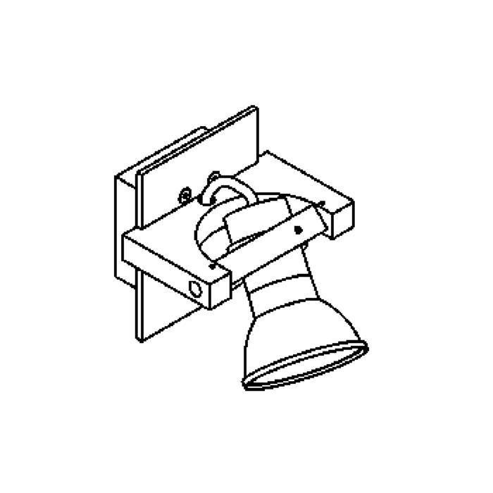 Drawing of 1271.ES63/.. - SURF, opbouw wandlicht - richtbaar