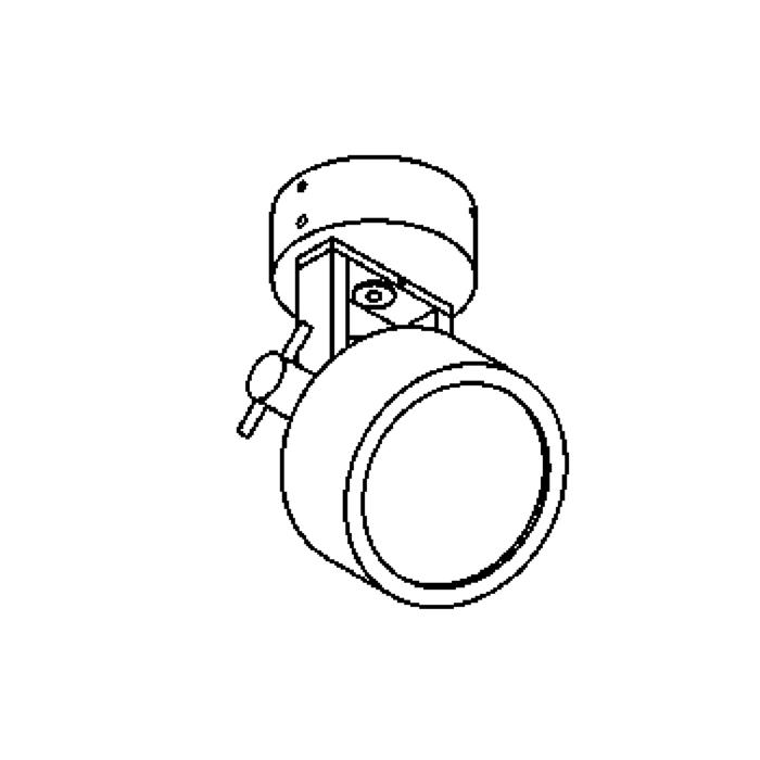 Drawing of 1293/.. - SIRIO, opbouw plafond -of wandlicht - richtbaar - down
