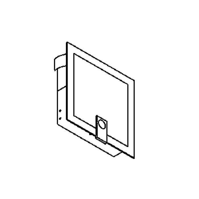 Drawing of 1297B/.. - MEZZO GRANDE, inbouw wandlicht - met blauw glas